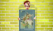 Pleasant Scandinavia - Decorative Arts, Prints & Posters,Wall Art Print, Poster , Vintage Travel Poster